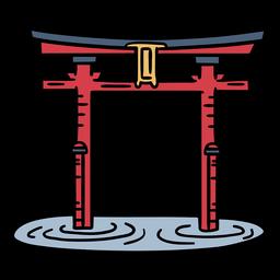 Japan Gate Troii Hand gezeichnet