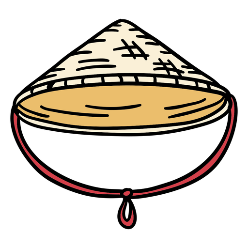 Japan jingasa hat hand drawn