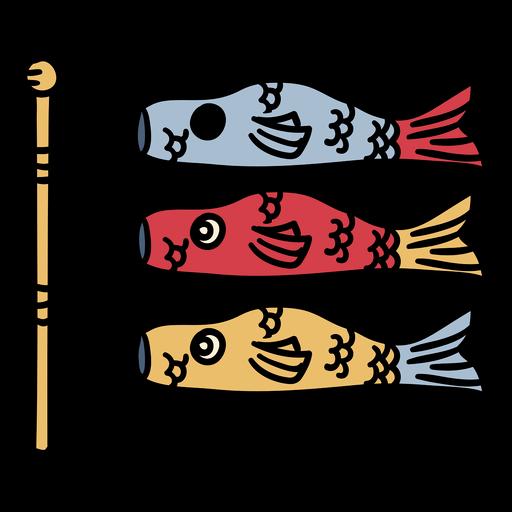Japan koinobori windsocks hand drawn