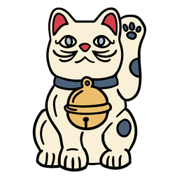 Japan maneki neko cat doll hand drawn