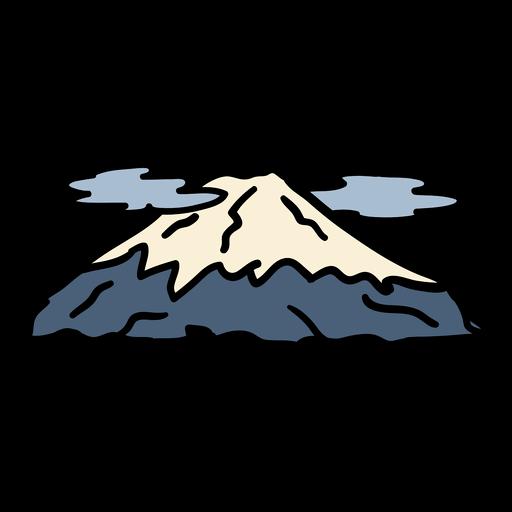 Dibujado a mano montaña monte fuji de japón