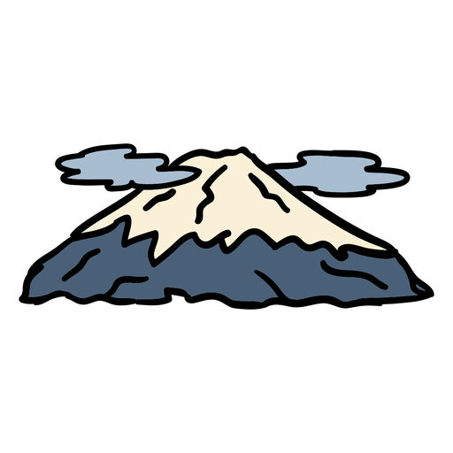 Japan mount fuji mountain hand drawn