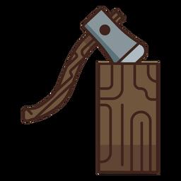 Icono de registro de hacha de leñador