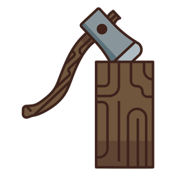Lumberjack axe log icon