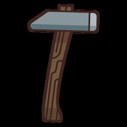 Lumberjack hammer icon