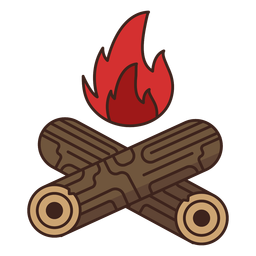 Holzfäller Log Feuer Symbol