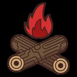 Icono de fuego de registro de leñador