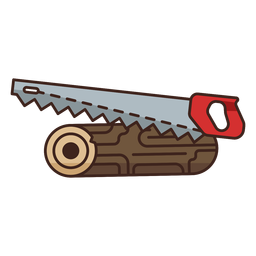 Lumberjack saw single heavy icon