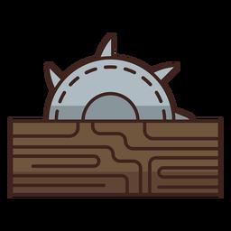Icono de aserradero de leñador