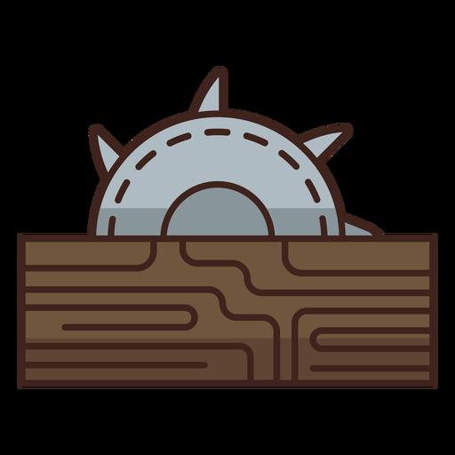 Lumberjack sawmill icon Transparent PNG