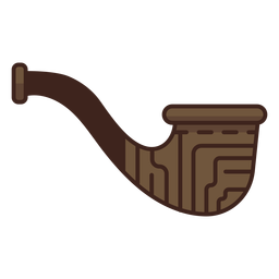 Lumberjack wooden pipe icon