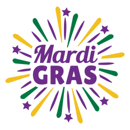 Mardigras color lettering