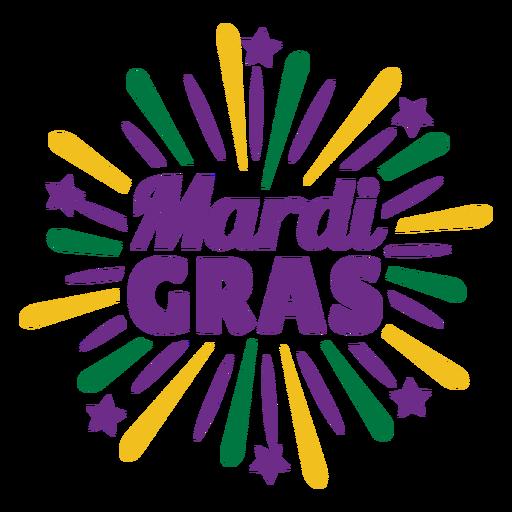 Mardigras color lettering