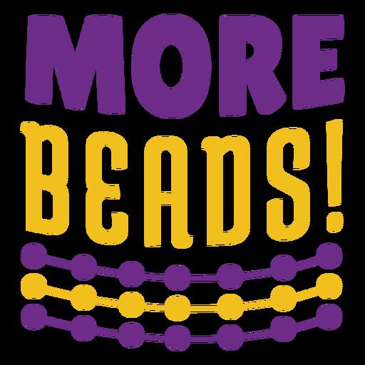 Mardigras más letras en color de abalorios