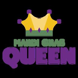 Mardigras rainha coroa cor letras