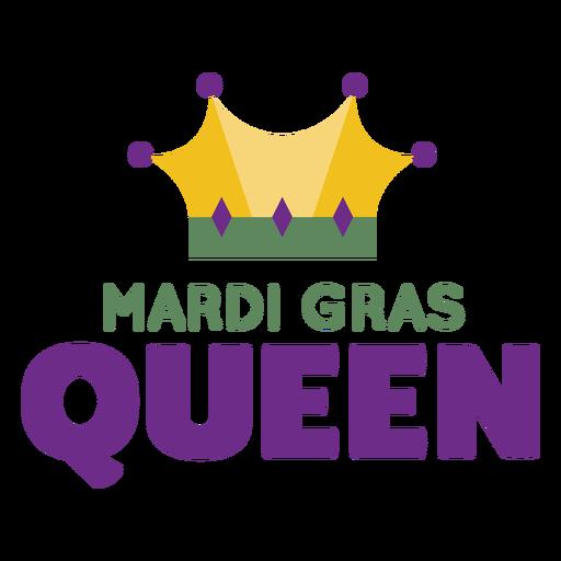 Letras de color de corona de reina de Mardigras