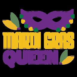 Mardigras rainha máscara cor letras