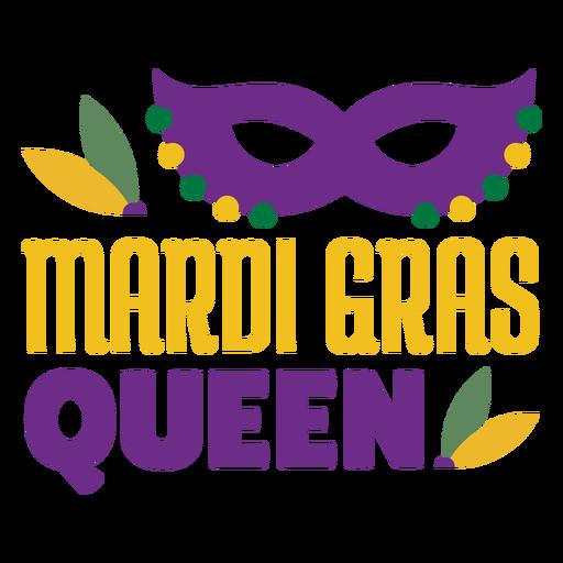 Mardigras queen mask color lettering