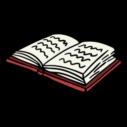 Livro aberto mão desenhada