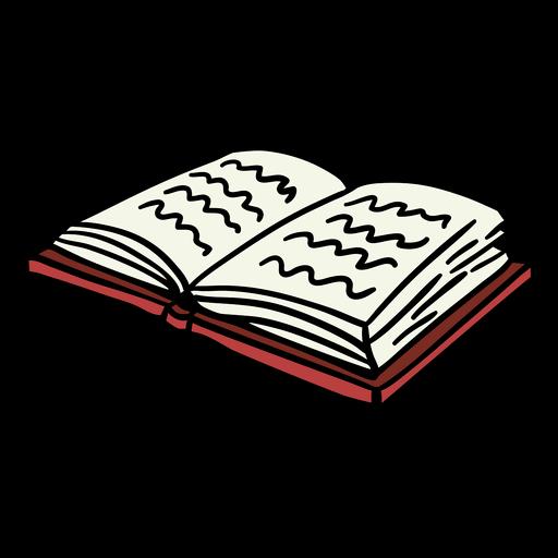 Dibujado a mano libro abierto