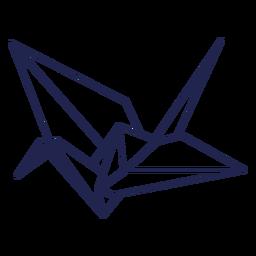 Trazo de pájaro de origami