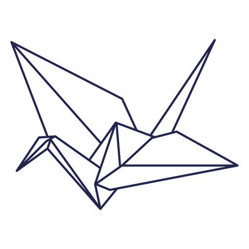 Origami bird stroke Transparent PNG
