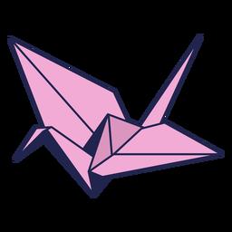 Origami pássaro rosa
