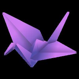 Ilustração de pássaro origami roxo