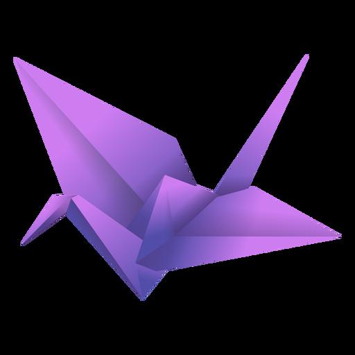 Ilustración de origami pájaro púrpura Transparent PNG