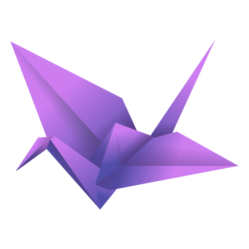 Ilustración de pájaro púrpura de origami