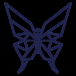 Origami borboleta traço borboleta
