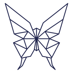 Origami mariposa trazo mariposa