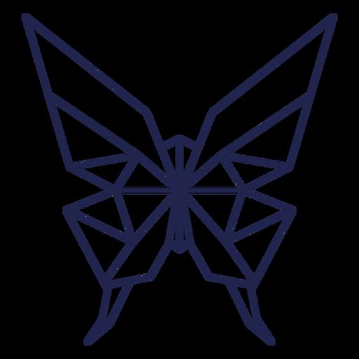 Borboleta de traçado de borboleta de origami Transparent PNG