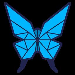 Borboleta de origami azul