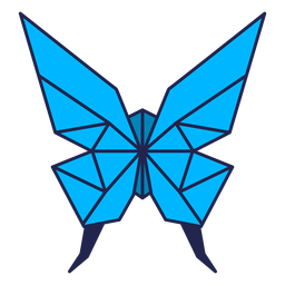 Origami butterfly blue