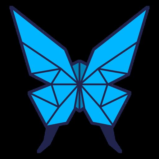 Mariposa origami azul