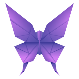 Ilustração de borboleta roxa de origami