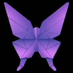 Ilustração de origami borboleta roxa
