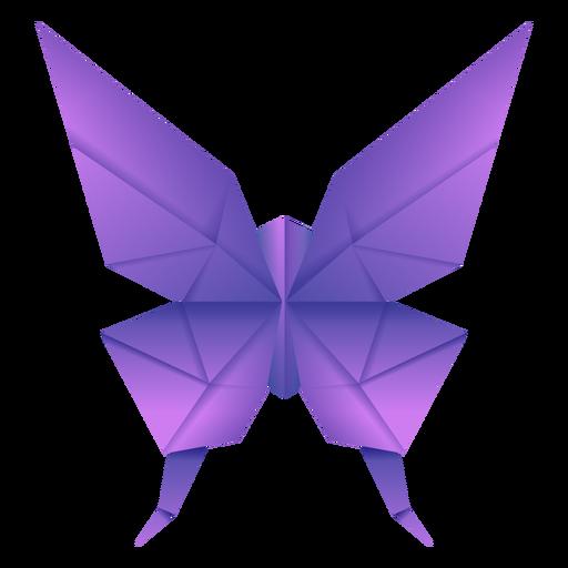 Ilustración de mariposa de origami púrpura