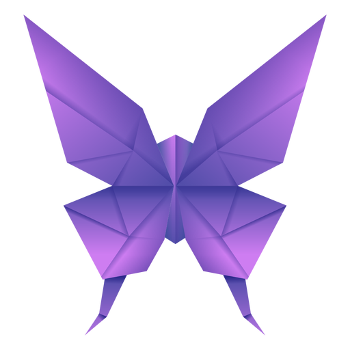 Origami butterfly purple illustration Transparent PNG