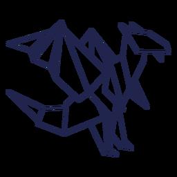 Dragão de origami com traço de dragão