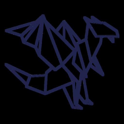 Origami dragon stroke dragon Transparent PNG