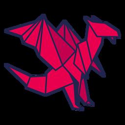 Dragão origami vermelho