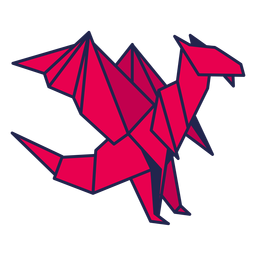 Origami dragon red
