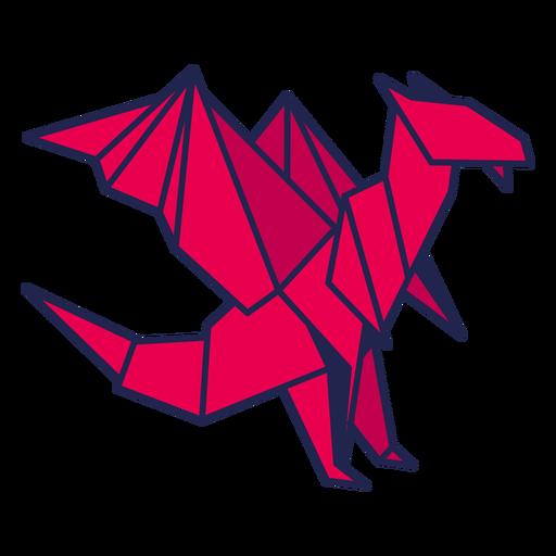 Dragón de origami rojo