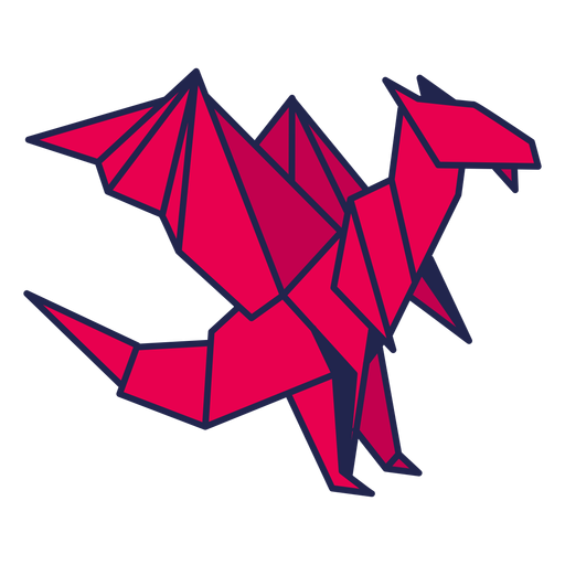 Origami dragon red Transparent PNG