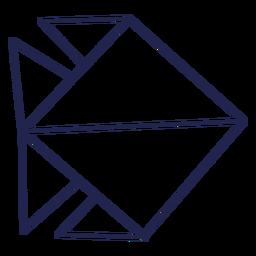 Origami pez trazo de pescado