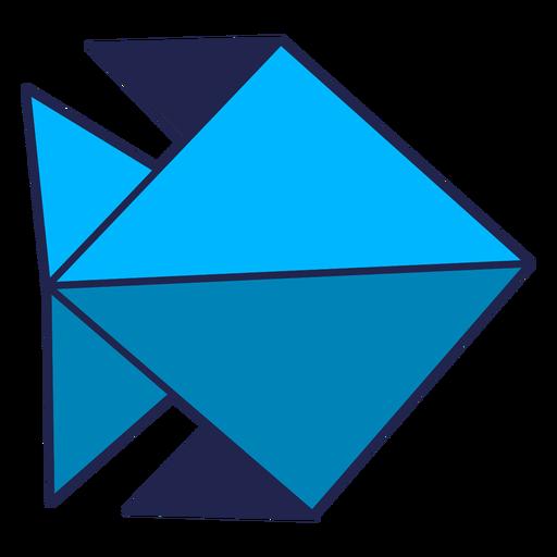 Origami fish blue