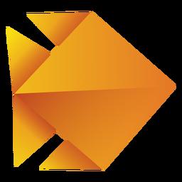 Ilustración de origami pescado amarillo