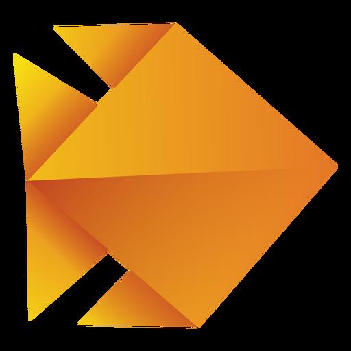 Ilustración de pez de origami amarillo